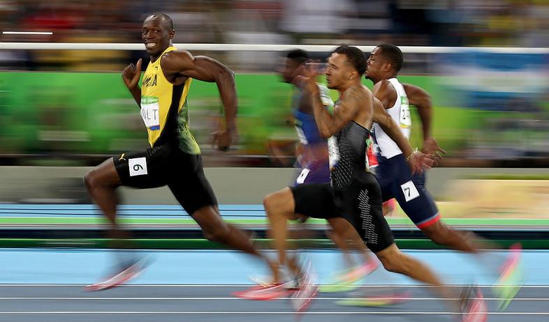 יוסיין בולט בחצי גמר 100 מטר לגברים באולימפיאדת ריו 2016 (צילום:  none, Getty Images)