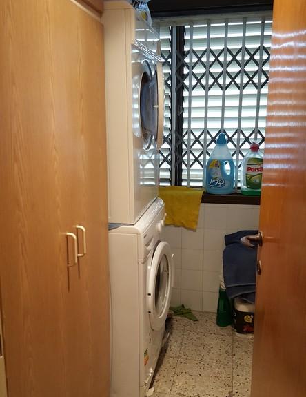 חיפה, עיצוב מיכל מטלון, לפני שיפוץ, חדר שירות (צילום: מיכל מטלון)
