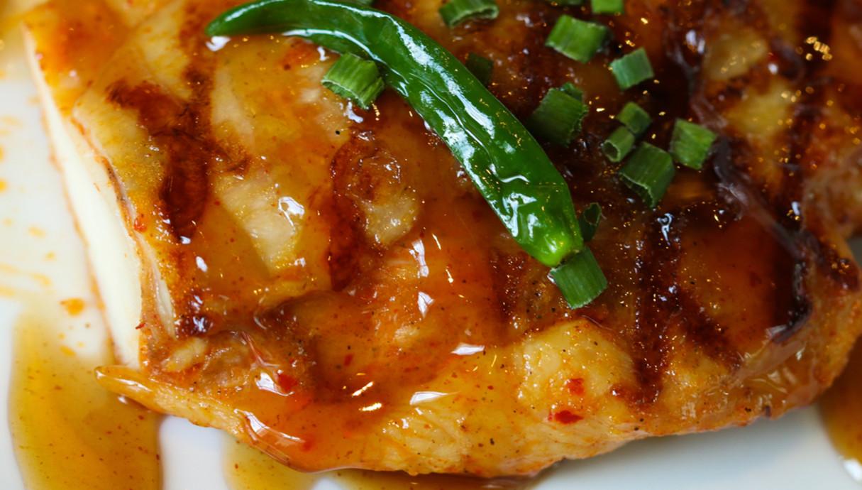 חזה עוף ברוטב צ'ילי מתוק