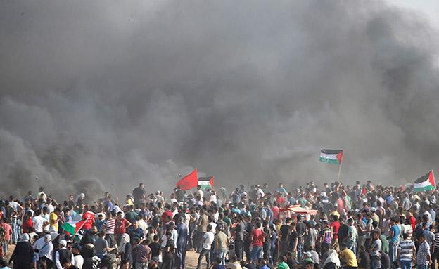 """""""אויב חלש"""". מהומות חמאס בגבול הרצועה (צילום: רויטרס, חדשות)"""