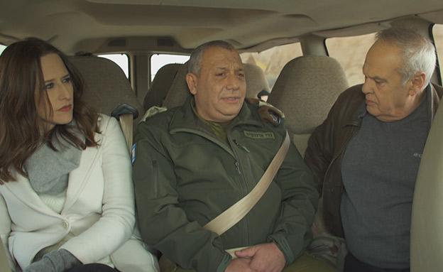 יונית לוי, גדי אייזנקוט ורוני דניאל (צילום: החדשות)