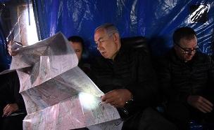 """רה""""מ ושר הביטחון נתניהו מסייר בצפון (צילום: חיים צח / לע""""מ, חדשות)"""