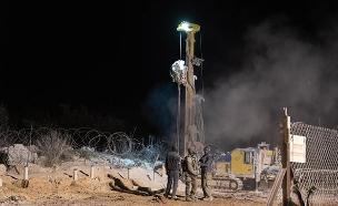 """מנהרת טרור של חיזבאללה שנחשפה בגבול הצפון (צילום: דובר צה""""ל, חדשות)"""