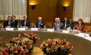 השיחות בז'נבה סביב הסכם הגרעין האירני (צילום: רויטרס, חדשות)