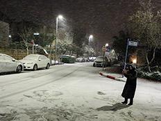 צפו בשלג בי-ם | סטילס:שלג באפרת (צילום: פלאש 90, גרשון אלינסון)