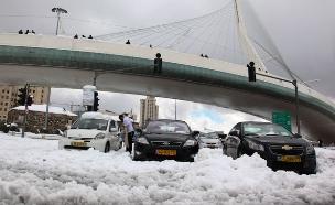 כך נראה השלג בירושלים ב-2013 (צילום: פלאש 90, מיטל כהן, חדשות)