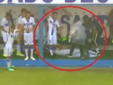 מחריד: הרגע בו ברק פגע במגרש כדורגל בברזיל