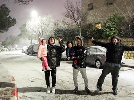 שלג שנערם באפרת