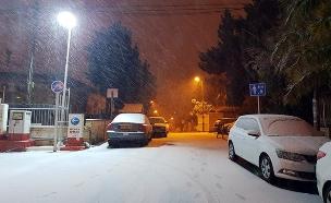 שלג בירושלים (צילום: תום שחר, חדשות)