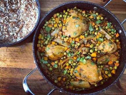 עוף באפונה ושומר (צילום: יונית סולטן צוקרמן, אוכל טוב)