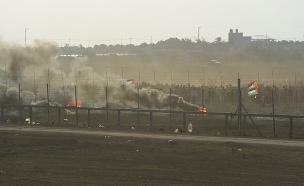 """התפרעויות בגבול עזה, ארכיון (צילום: דובר צה""""ל, חדשות)"""