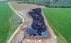 הנזק האקולוגי בדרום ממעוף הציפור (צילום: איל יפה, המשרד להגנת הסביבה, חדשות)