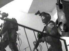 תיעוד: רגע חיסול המחבל מברקן (צילום: דוברות המשטרה)