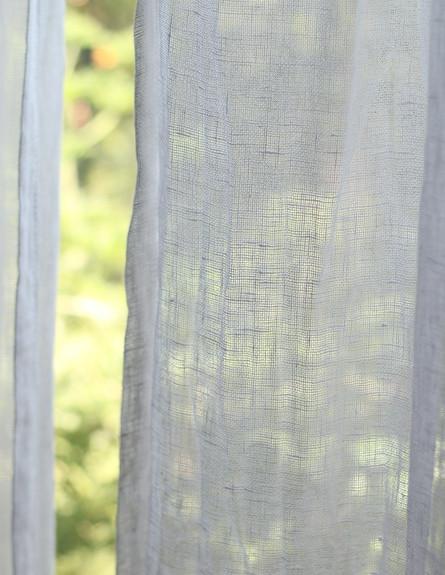 פריט מנצח, ג, 14 וילון פשתן במראה מקומט, עיצוב לירון גונן (צילום: לירון גונן)