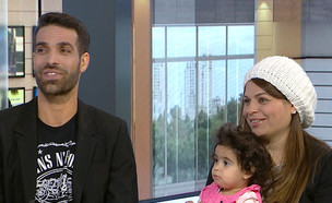 """התינוקת פרכסה במשך 40 דקות: """"התחלנו להתפלל"""" (צילום: מתוך """"חדשות הבוקר"""" , קשת 12)"""