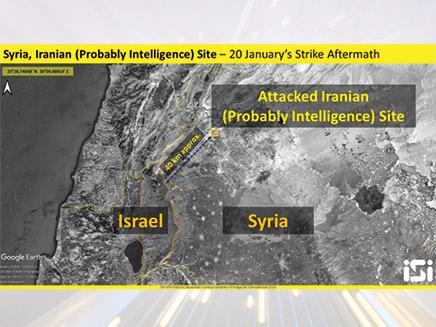 בניין מודיעין אירני שהותקף בסוריה