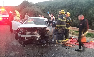 """זירת התאונה בגליל (צילום: דוברות מד""""א, חדשות)"""