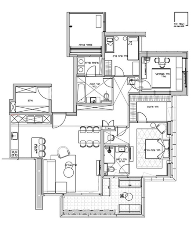 דירה בראשון לציון, עיצוב נעמה זהר, תוכנית אחרי