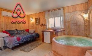 דירה בשטחים שמוצעת ב-Airbnb (צילום: Airbnb, החדשות)