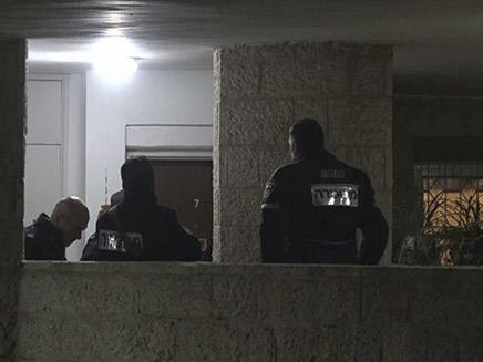 כוחות המשטרה בזירה
