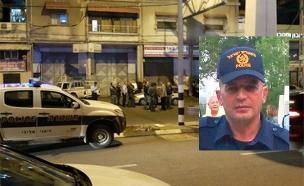 השוטר שנדרס נתן יוסיפוב על רקע הזירה (צילום: חדשות)