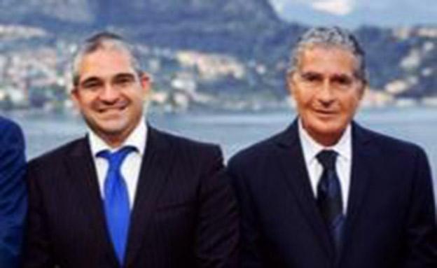 אלי אשל ובנו עומר (צילום: חדשות)