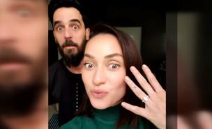 """אנה ארונוב בראיון ראשון אחרי הצעת הנישואים (צילום: מתוך """"ערב טוב עם גיא פינס"""", שידורי קשת)"""
