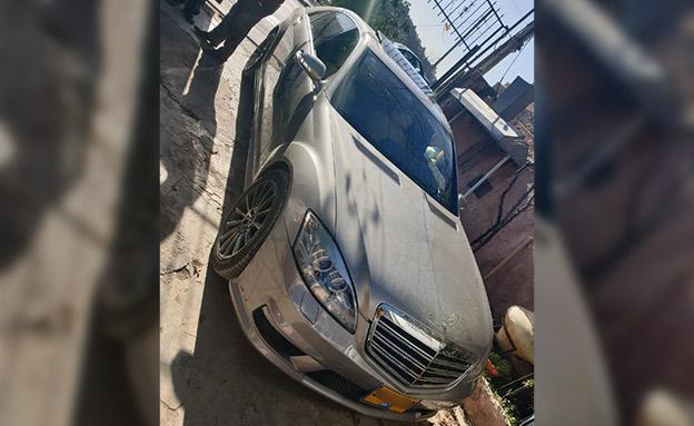 הרכב שבו נהג הנער (צילום: דוברות המשטרה, חדשות)
