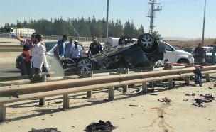 תאונת דרכים, אילוסטרציה (צילום: דיקלה רוטברט, חדשות 2)