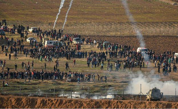 המהומות בעזה נמשכות - ועכשיו הפיצויים (צילום: צילום: קובי ריכטר/TPS, חדשות)