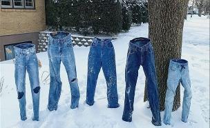 """קור קיצוני בארה""""ב: המכנסיים קפאו (צילום: רויטרס, חדשות)"""