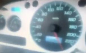 """נהג במהירות של מעל ל-250 קמ""""ש. התיעוד (צילום: חדשות)"""
