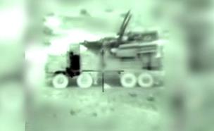 """תקיפת סוללת הגנה אווירית סורית  (צילום: דובר צה""""ל, חדשות)"""