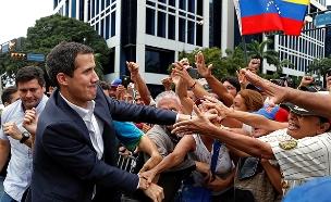 """יו""""ר האופוזיציה ונצואלה חואן גואידו (צילום: רויטרס, חדשות)"""