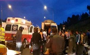 """התאונה (צילום: תיעוד מבצעים מד""""א, חדשות)"""