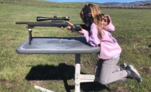 וויל הארט יורה ברובה (צילום: instagram)
