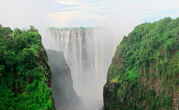מפלי וויקטוריה בזימבבואה (צילום: רויטרס, חדשות)