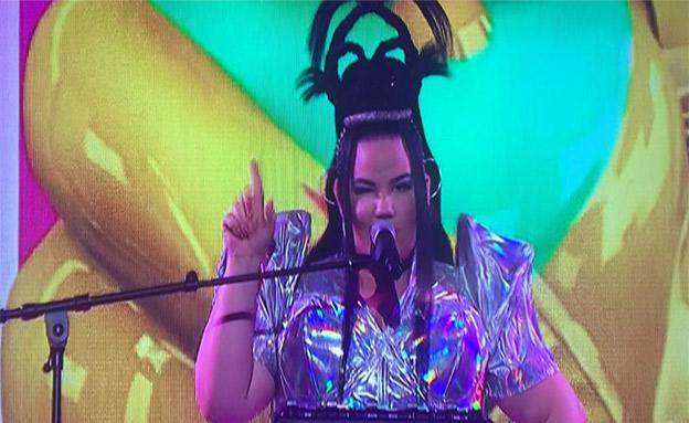 נטע בהופעה בקדם הבריטי, הערב (צילום: חדשות)