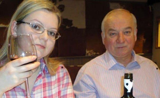 המרגל סרגי סקריפל ובתו יוליה (צילום: sky news, חדשות)