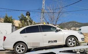 המונית שהושבתה פעמיים (צילום: דוברות המשטרה, חדשות)