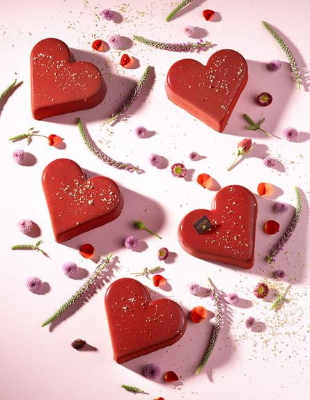 רולדין וולנטיין עוגת לב  (צילום: רונן מנגן, יחסי ציבור)
