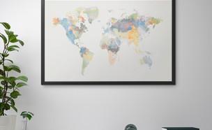 מפת העולם איקאה (צילום: IKEA USA)