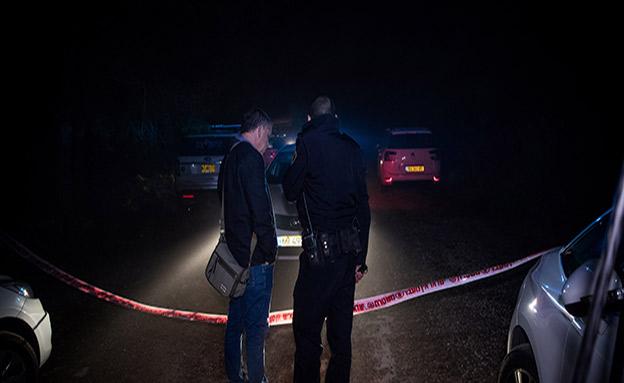 זירת הרצח, שבוע שעבר (צילום: יונתן זינדל, פלאש 90, חדשות)