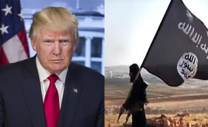 """הפתיע גם את הגנרלים. טראמפ ודאע""""ש. ארכיון (צילום: חדשות)"""