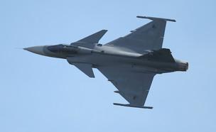 מטוס הקרב המתקדם של שבדיה (צילום: Sean Gallup, gettyimages)