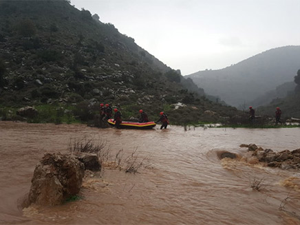 הלוחם נסחף בזרם ונעלם (צילום: דוברות כבאות והצלה מחוז צפון, חדשות)