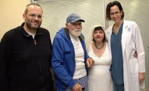 בשל המחלה: זוג שהתגרש התאחד מחדש (צילום: ג׳ני ירושלמי, דוברות איכילוב, חדשות)
