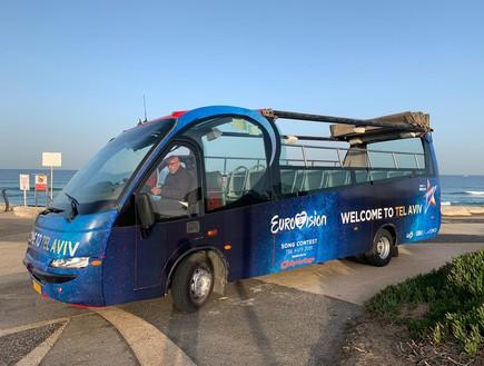 אוטובוס האירוויזיון (צילום: באדיבות עיריית תל אביב)