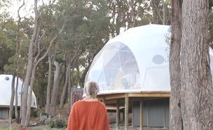 עיר אוהלים לאירוויזיון. אחד מהפתרונות (צילום: חדשות)