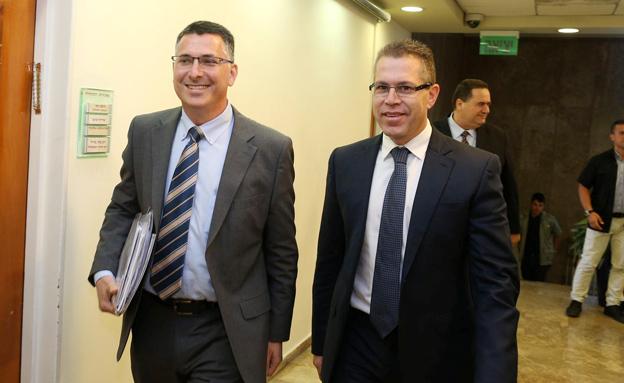 גלעד ארדן וגדעון סער (צילום: עמית שאבי פלאש 90, חדשות)